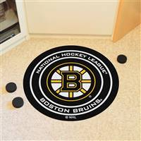 "Boston Bruins Puck Mat, 29"" Diameter"