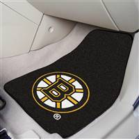 Boston Bruins 2-pc Printed Carpet Car Mat Set