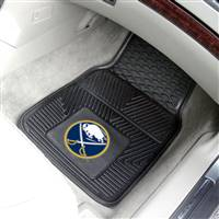 "Buffalo Sabres Heavy Duty 2-Piece Vinyl Car Mats 18""x27"""