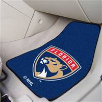 Florida Panthers 2-pc Printed Carpet Car Mat Set