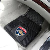 "Florida Panthers Heavy Duty 2-Piece Vinyl Car Mats 18""x27"""