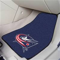 Columbus Blue Jackets 2-pc Printed Carpet Car Mat Set