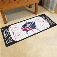 "Columbus Blue Jackets NHL Rink Runner Mat, 30""x72"""