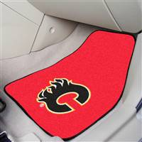 Calgary Flames 2-pc Printed Carpet Car Mat Set