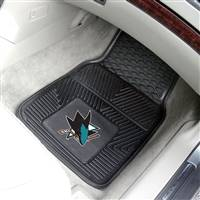 "NHL - San Jose Sharks 2-pc Vinyl Car Mat Set 17""x27"""