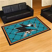 "NHL - San Jose Sharks 5x8 Rug 59.5""x88"""