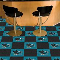 "NHL - San Jose Sharks Team Carpet Tiles 18""x18"" tiles"