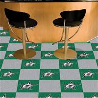 "NHL - Dallas Stars Team Carpet Tiles 18""x18"" tiles"