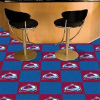 "NHL - Colorado Avalanche Team Carpet Tiles 18""x18"" tiles"