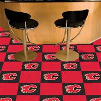 Calgary Flames 18x18 Team Carpet Tiles, Covers 45 Sq. Ft.