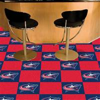 Columbus Blue Jackets 18x18 Team Carpet Tiles, Covers 45 Sq. Ft.