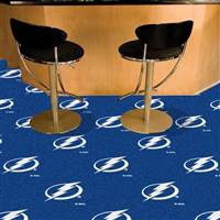 Tampa Bay Lightning 18x18 Team Carpet Tiles, Covers 45 Sq. Ft.