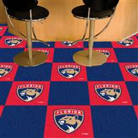 "NHL - Florida Panthers Team Carpet Tiles 18""x18"" tiles"