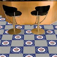 "NHL - Winnipeg Jets Team Carpet Tiles 18""x18"" tiles"
