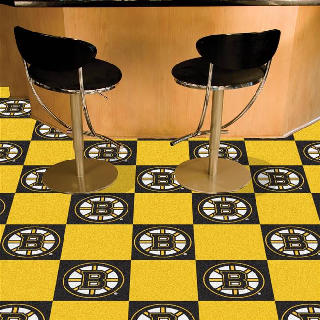 Boston Bruins 18x18 Team Carpet Tiles, Covers 45 Sq. Ft.