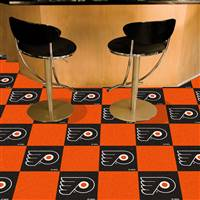 "NHL - Philadelphia Flyers Team Carpet Tiles 18""x18"" tiles"