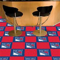 New York Rangers 18x18 Team Carpet Tiles, Covers 45 Sq. Ft.