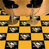 Pittsburgh Penguins 18x18 Team Carpet Tiles, Covers 45 Sq. Ft.