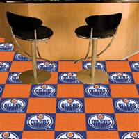 "NHL - Edmonton Oilers Team Carpet Tiles 18""x18"" tiles"