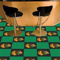 Chicago Blackhawks 18x18 Team Carpet Tiles, Covers 45 Sq. Ft.