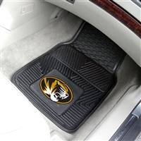 "Missouri Tigers Heavy Duty Heavy Duty 2-Piece Vinyl Car Mats 18""x27"""