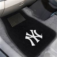 "New York Yankees 2-pc Embroidered Car Mat Set 17""x25.5"""