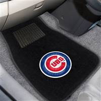 "Chicago Cubs 2-pc Embroidered Car Mat Set 17""x25.5"""