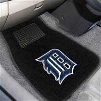 "Detroit Tigers 2-pc Embroidered Car Mat Set 17""x25.5"""