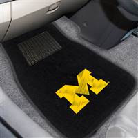 "University of Michigan 2-pc Embroidered Car Mat Set 17""x25.5"""