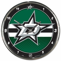 Dallas Stars Round Chrome Wall Clock - Special Order