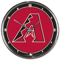 Arizona Diamondbacks Clock Round Wall Style Chrome
