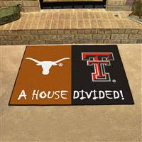 "House Divided - Texas / Texas Tech House Divided Mat 33.75""x42.5"""
