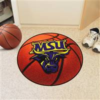 "Minnesota State University - Mankato Basketball Mat 27"" diameter"