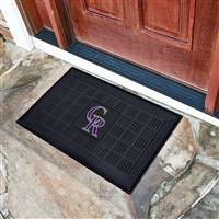 Colorado Rockies Vinyl Door Mat