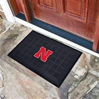 "University of Nebraska Medallion Door Mat 19.5""x31.25"""