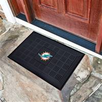 "NFL - Miami Dolphins Medallion Door Mat 19.5""x31.25"""