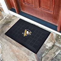 "NHL - Pittsburgh Penguins Medallion Door Mat 19.5""x31.25"""