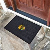 "NHL - Chicago Blackhawks Medallion Door Mat 19.5""x31.25"""