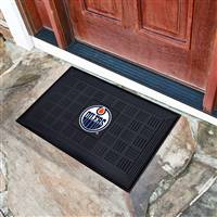 "NHL - Edmonton Oilers Medallion Door Mat 19.5""x31.25"""