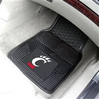 "Cincinnati Bearcats Heavy Duty 2-Piece Vinyl Car Mats 18""x27"""