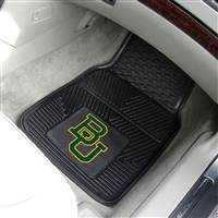 "Baylor Bears Heavy Duty 2-Piece Vinyl Car Mats 18""x27"""