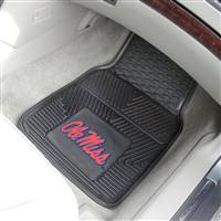 "Ole Miss Rebels Heavy Duty 2-Piece Vinyl Car Mats 18""x27"""