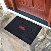 "University of Mississippi (Ole Miss) Medallion Door Mat 19.5""x31.25"""