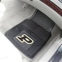"Purdue Boilermakers Heavy Duty 2-Piece Vinyl Car Mats 18""x27"""