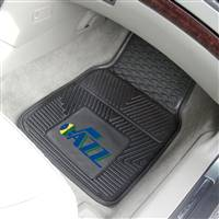 "Utah Jazz Heavy Duty 2-Piece Vinyl Car Mats 18""x27"" - Alternate Logo"