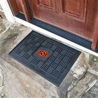 "Oklahoma State University Medallion Door Mat 19.5""x31.25"""
