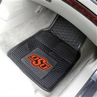 "Oklahoma State Cowboys Heavy Duty 2-Piece Vinyl Car Mats 18""x27"""