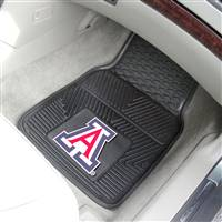 "University of Arizona 2-pc Vinyl Car Mat Set 17""x27"""
