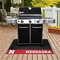 "University of Nebraska Grill Mat 26""x42"""