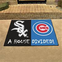 "Chicago White Sox - Chicago Bears House Divided Rug 34""x45"""